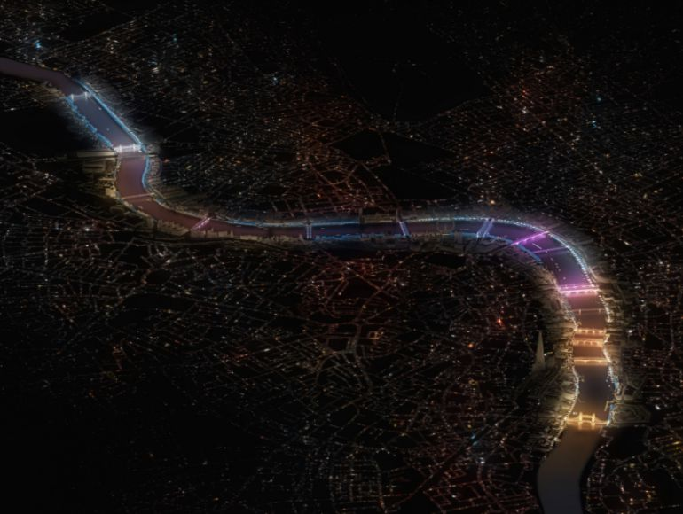 London's 'ribbon of darkness' to be bathed in light