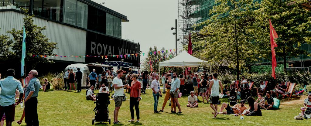 Mayor says Royal Wharf community is thriving