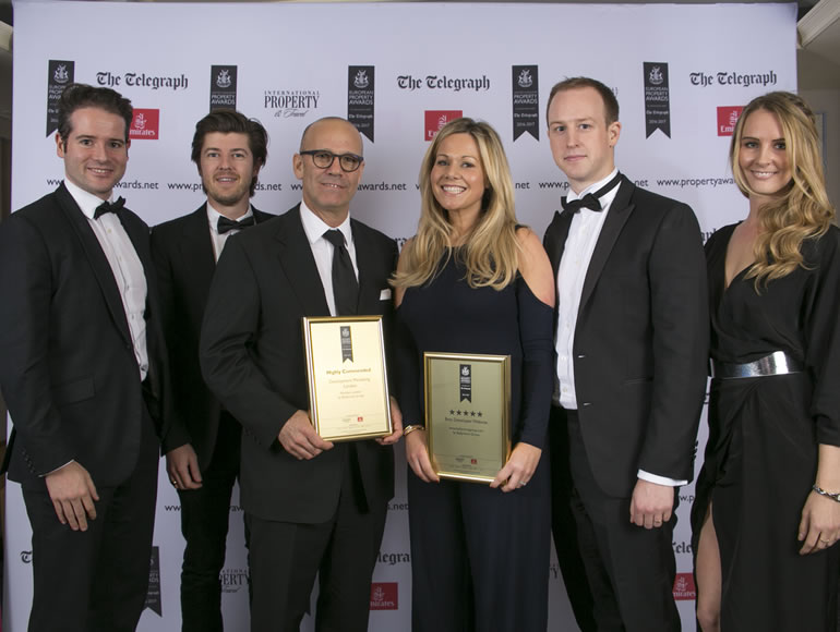 Ballymore's website triumphs at London award ceremony