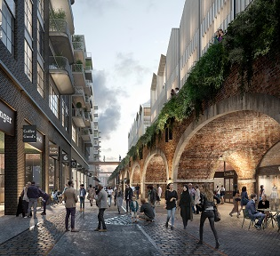 Bishopsgate Goodsyard developers submit revised plans for exemplary urban quarter in Shoreditch