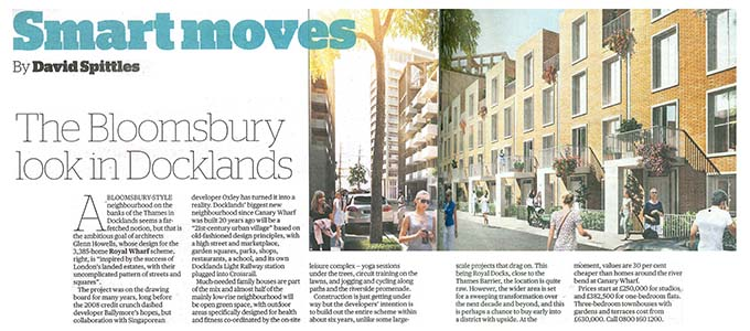 The Bloomsbury look in Docklands, Smart Moves, Evening Standard