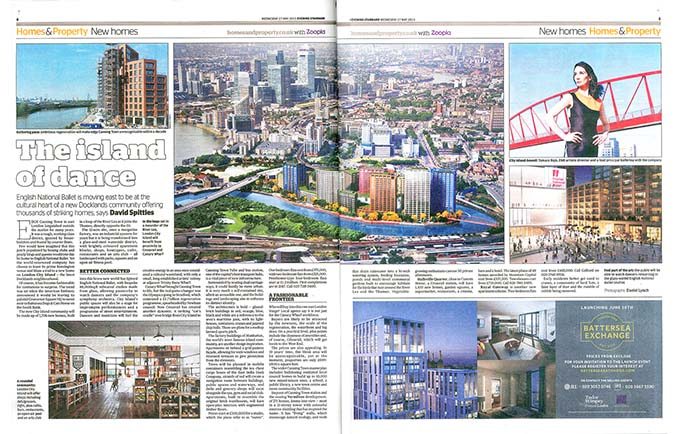 The island of Dance, Evening Standard, Homes & Property