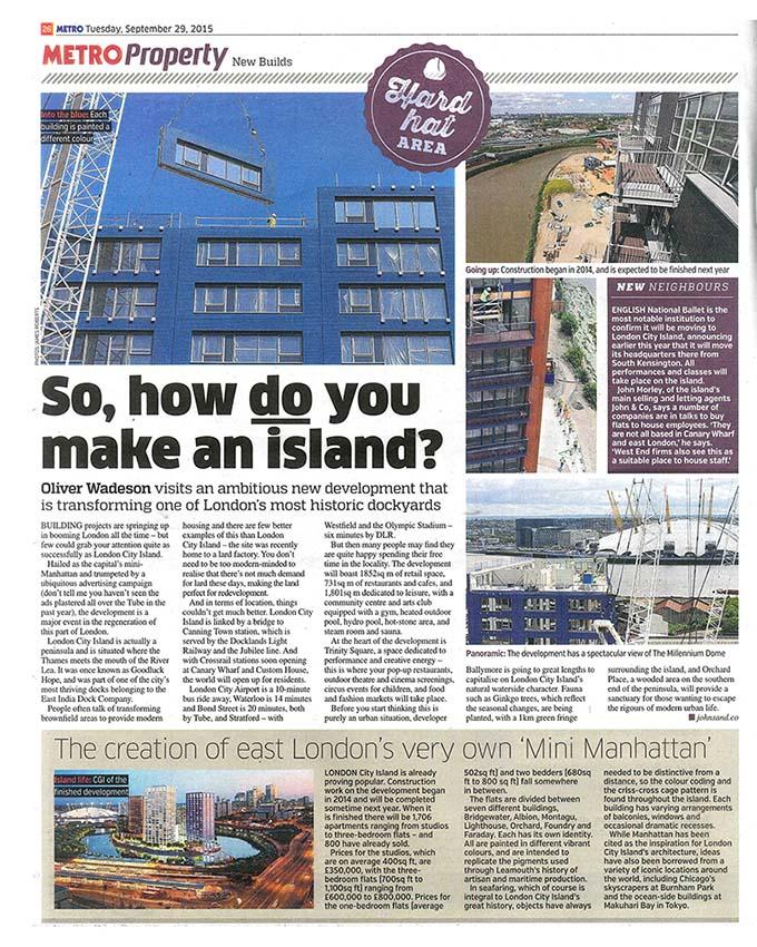 So, how do you make an island? Metro Property