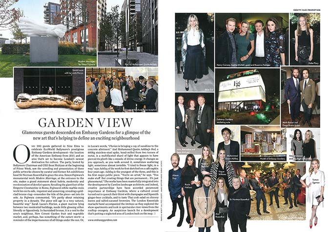 Garden View, Embassy Gardens in Vanity Fair
