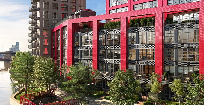 Talk of the town: new riverside townhouses launch for sale at London City Island