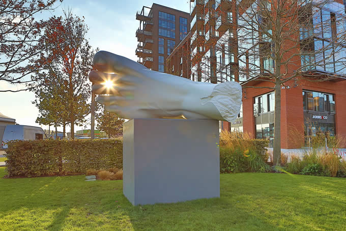 Major art commissions unveiled at Embassy Gardens: Three leading young artists bring creative flair to Nine Elms