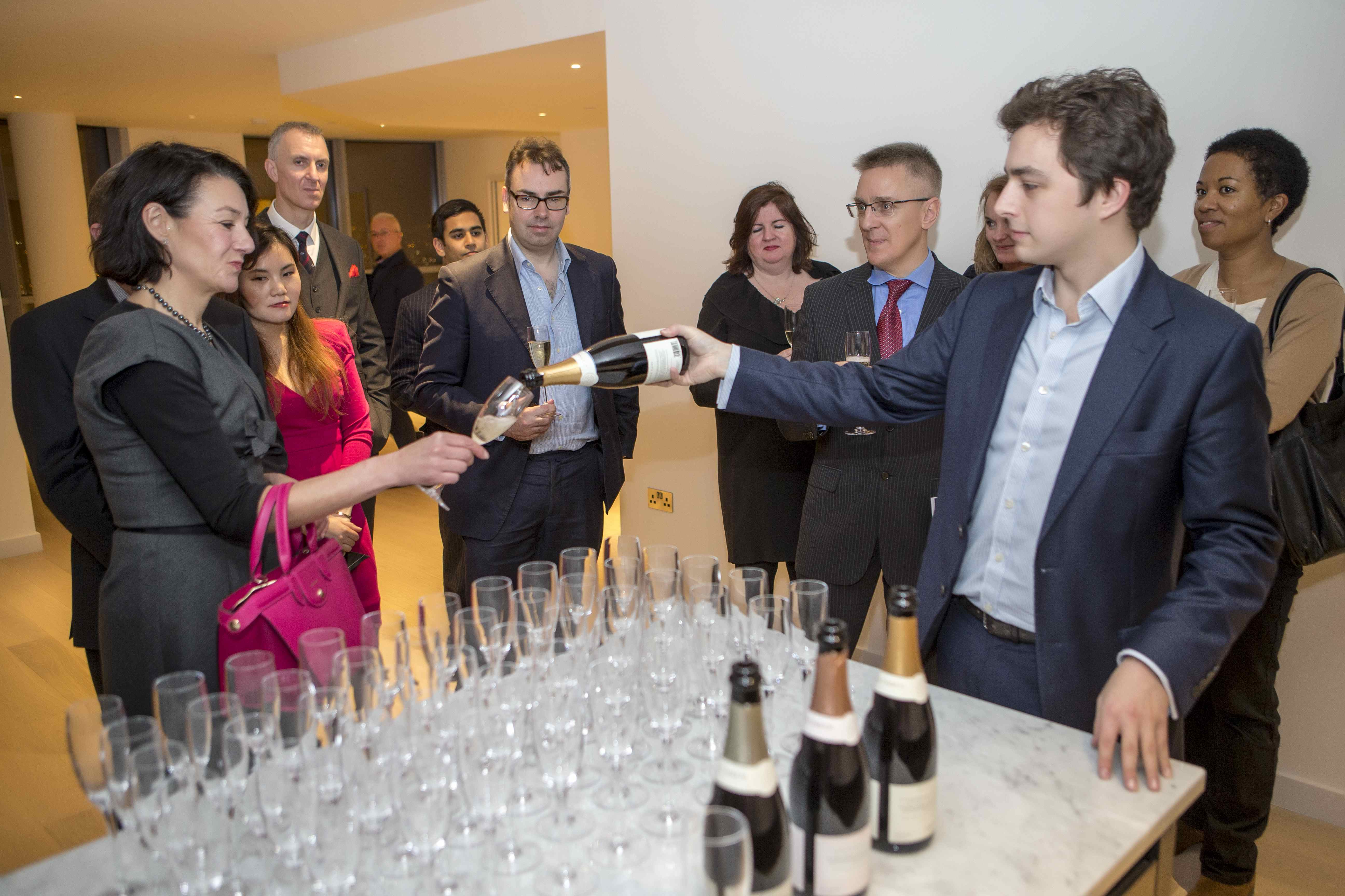 Top Three Floors tasting event with Nyetimber