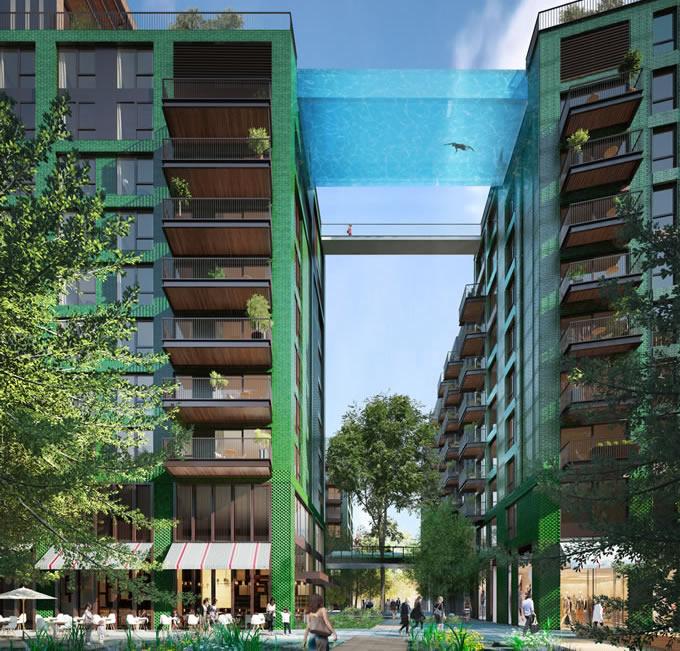 Ballymore揭幕使館花園35米高懸浮游泳池