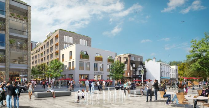 Brentford Waterside works begin