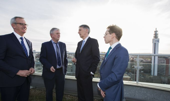 Chancellor visits Three Snowhill Site