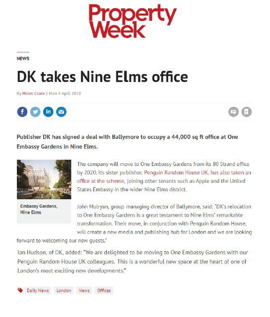 DK takes Nine Elms office