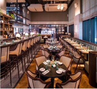 Restaurateurs Robin and Sarah Gill's elegantly jazzy new culinary hotspot in Nine Elms