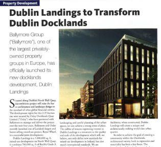 Dublin Landings to transform Dublin Docklands