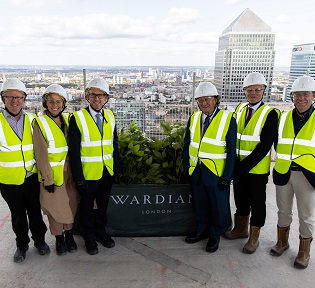 Ballymore celebrates topping out moment at Wardian London