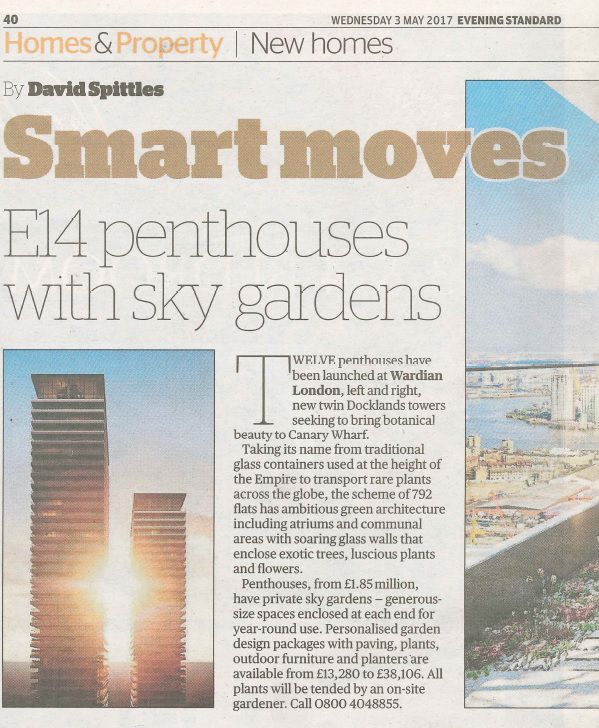 Smart moves: E14 penthouses with sky gardens
