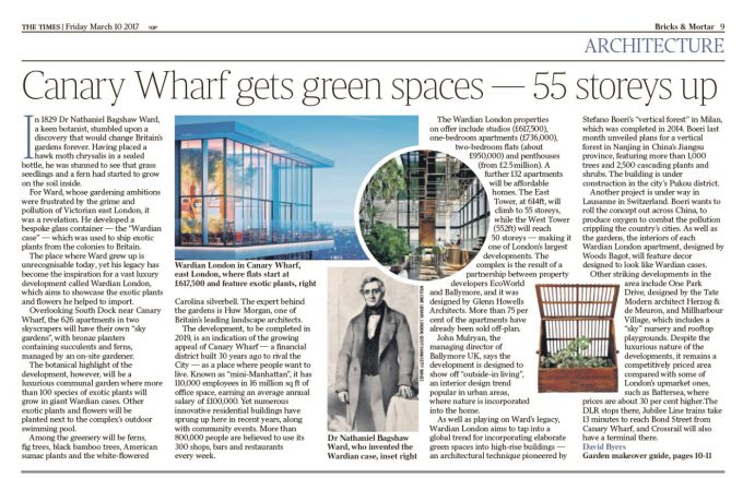 Canary Wharf gets green spaces