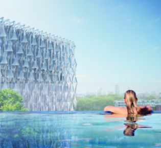 Ballymore reveals designs for a 35m high suspended swimming pool at Embassy Gardens