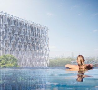 "Stunning Images show dramatic new ""Sky Pool"""